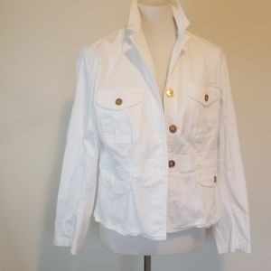Chaps white jacket with gold buttons size xlp